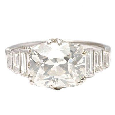 4.00 Carat Diamond Engagement Platinum Ring