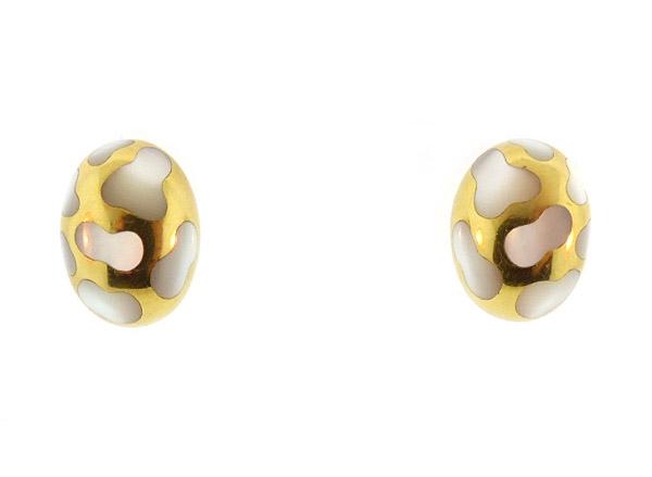 Angela Cummings 18K Gold Mother-of-Pearl Earrings