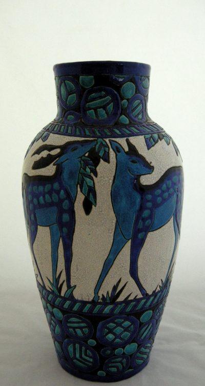 """Boch Freres Keramis Charles Catteau 16.25"""" Vase"""