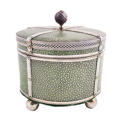 A Silver Mounted Shagreen Box Circa 1880