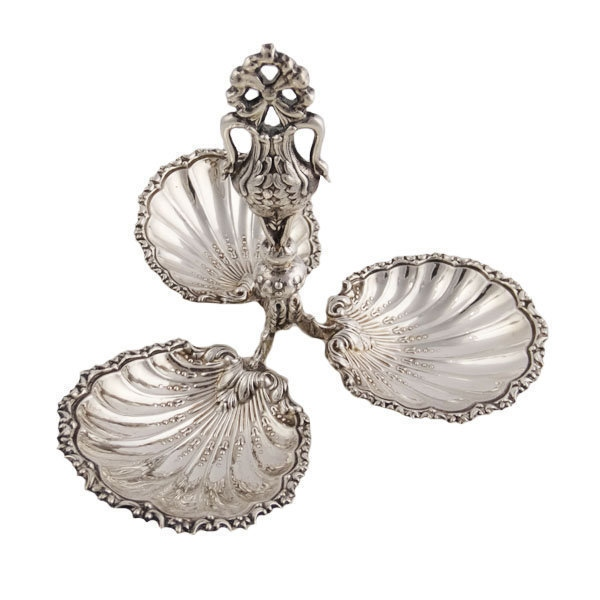 Continental Silver Sweet Meat Dish Circa 1870