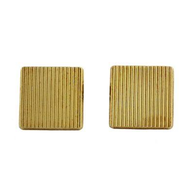 Black Starr & Frost 18K Gold Cufflinks in Original Box