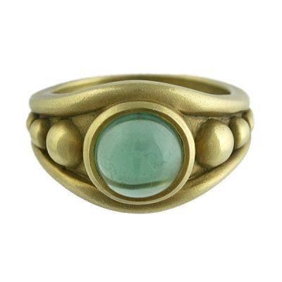 Kieselstein Cord 18K Green Gold Tourmaline Unisex Ring