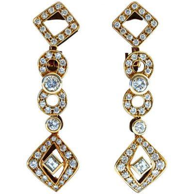 Gucci Diamond Gold Earrings