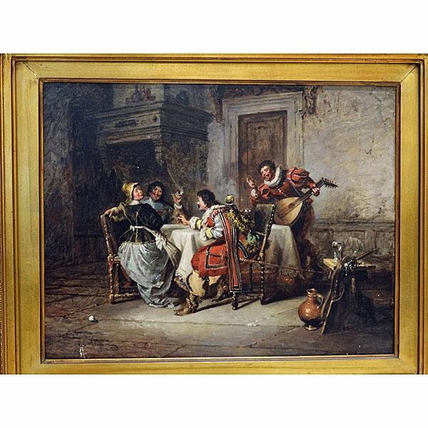Jakob Emmanuel Gaisser 1825-1899 Oil On Panel