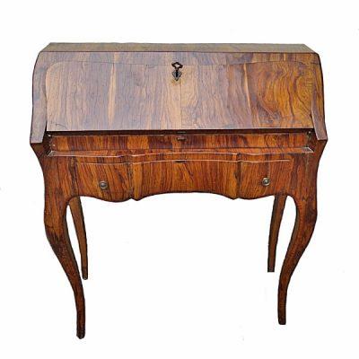 Italian Baroque Style Olive Wood Desk C 1950