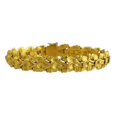 Early Georg Jensen Denmark 18K Gold Bracelet #306