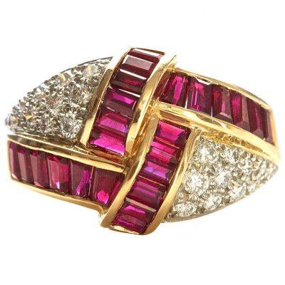 Oscar Heyman Brothers Ruby and Diamond Ring