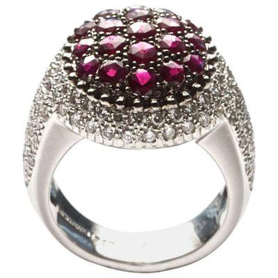 Mouawad Ruby Diamond Ring