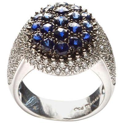 Mouawad Sapphire Diamond Ring