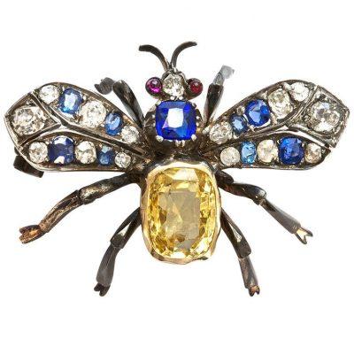 Great Victorian Butterfly Brooch