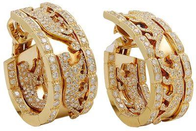 CARTIER Diamond Panther Earrings