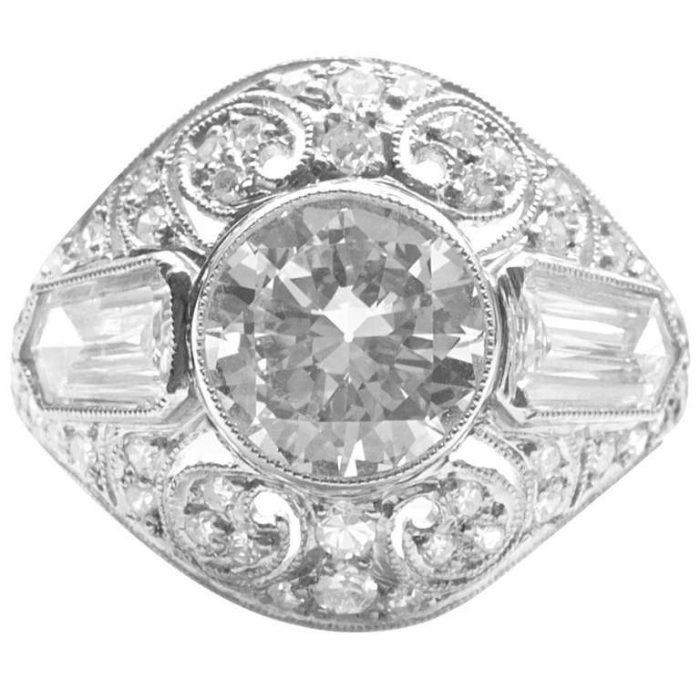 Art Deco Old European Cut Diamond Ring