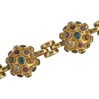 Rare H. Stern 18K Gold Dome and Link Sputnik Bracelet
