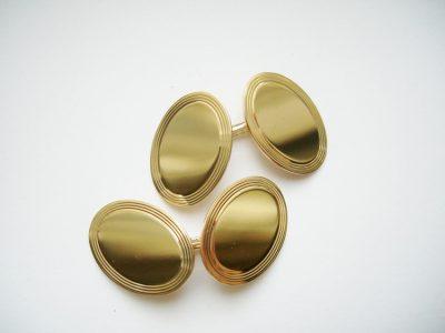 Tiffany 14K Cufflinks Two Sided Oval Vintage