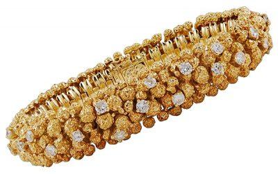 18kt. Yellow Gold Diamond Nugget Bracelet