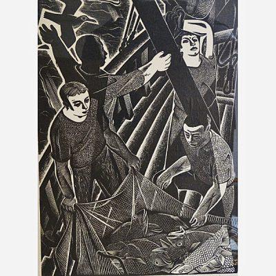 Louis Hechenbleikner Woodcut Engraving 1947