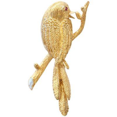 Boucheron Paris Golden Bird Brooch