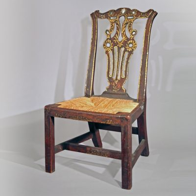 Chippendale Decorated Child's Size Chair