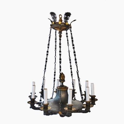 Neoclassical 10 Light Chandelier 19th Century