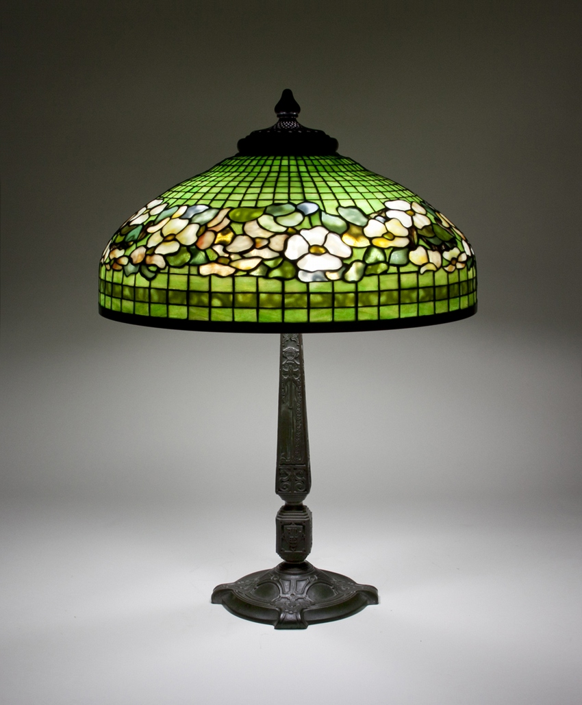 TIffany Studios Dogwood Border Table Lamp