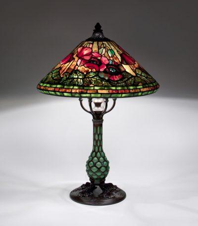 Tiffany Studios Poppy Table Lamp