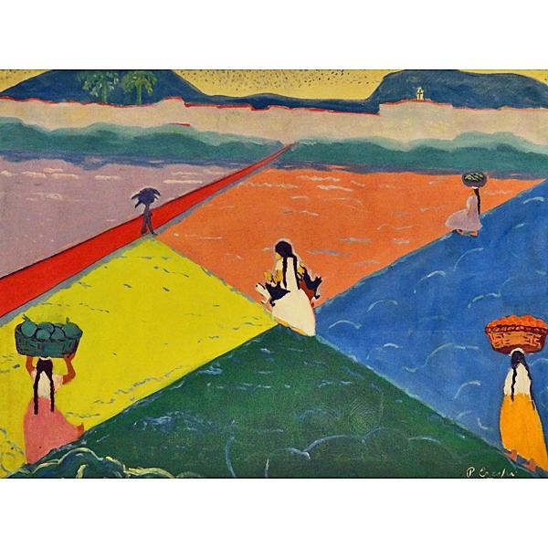 Pachita Crespi Landscape Oil On Canvas Costa Rica