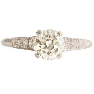 Raymond Yard Diamond Platinum Engagement Ring