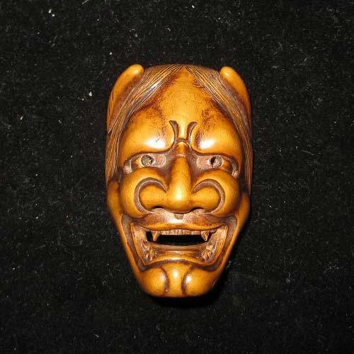 Wooden Hannya Mask