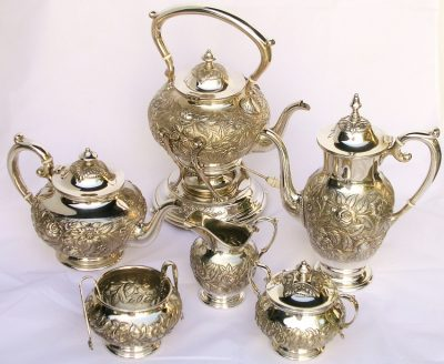 Kirk Repousse Sterling Tea and Coffee Service
