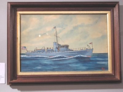 Watercolor painting of a Steamship