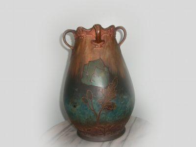 Victorian Royal Bonn Tri Handled Vase
