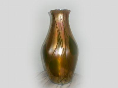 Tiffany Favrile Pulled Leaf Vase