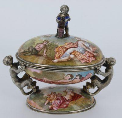 19th Century Viennese Enamel Ring Box