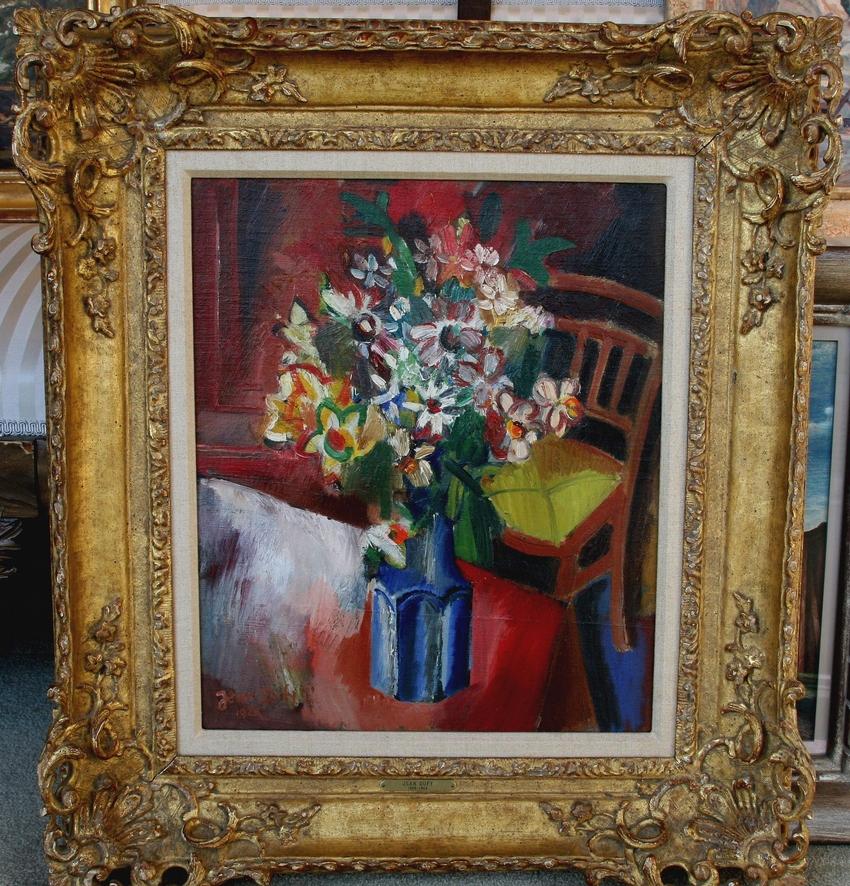 "Jean Dufy ""Still Life with Blue Vase"