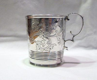 Obadiah Rich Coin Silver Mug; Important and Historic