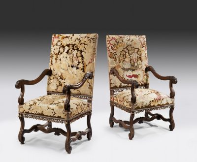 A Good Pair Of 19th Century French Armchairs