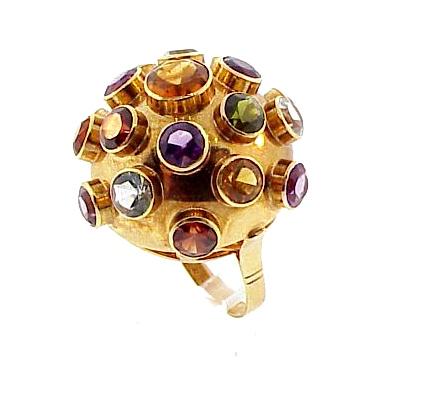 H Stern 18K Gold & Multi-Gem Sputnik Ring