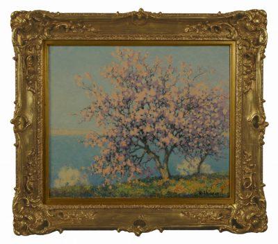 "Raymond Thibesart  ""Amandiez""  oil on canvas"