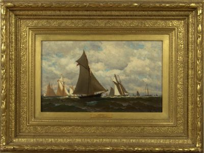 """Harry Chase (American 19th century)  """"Yachting"""""""