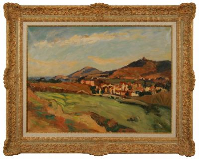 "Abel Lauvray (French  1870-1950)  ""Paysage au Vallon"""