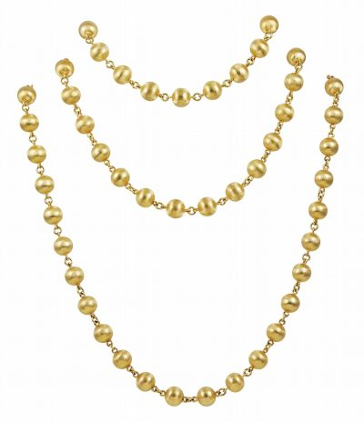 Stylish and Long Gold Necklace