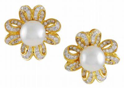 GUBELIN South Sea Pearl and Diamond Earrings