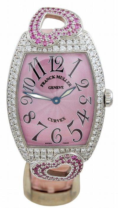 FRANCK MULLER Pink Sapphire and Diamond Watch