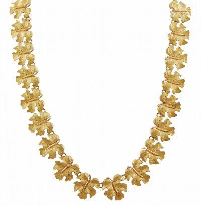 Gold BUCCELLATI Leaf Necklace