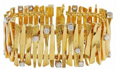 Unique GUBELIN Diamond and Gold Bracelet