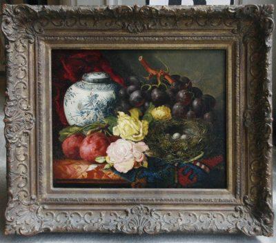 "Ellen Ladell (English Born 1853) ""Still Life WIth Flowers"""
