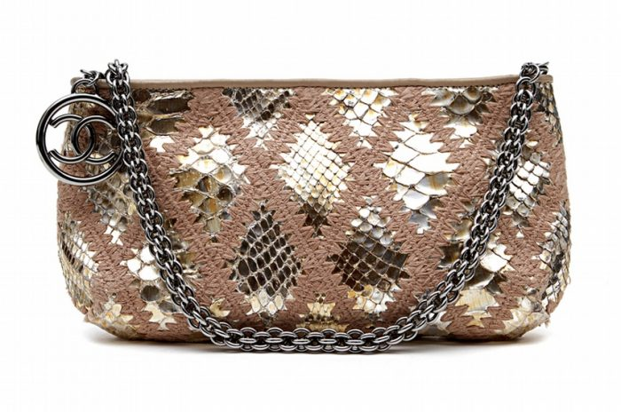 Chanel Gold Python Pochette