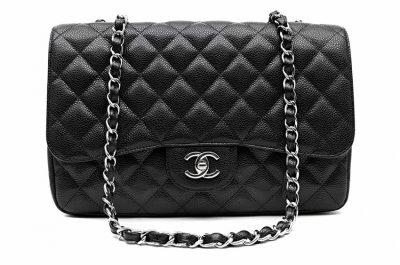 Chanel Black Caviar Twelve Inch Jumbo Classic