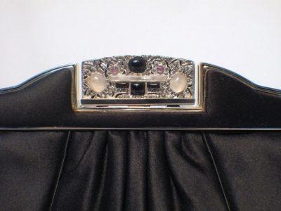 Black Satin Judith Leiber Evening Bag